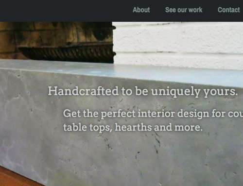 Custom Concrete Creations  [ web design + branding + web hosting ]